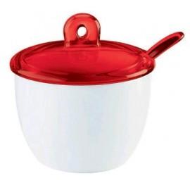 Guzzini 27770065 Gocce - Zuccheriera con Cucchiaino, Rosso