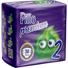 Pillo Premium - Pannolini Mini, Taglia 2 (3-6 Kg), 1 Confezione, 30 Pannolini