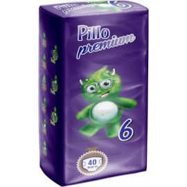Pillo Premium - Pannolini Extra Large, Taglia 6 (16-30 Kg), 1 Confezione, 40 Pannolini