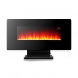 Argo Wave - Caminetto Elettrico, 1500 W, 5 effetti fiamma