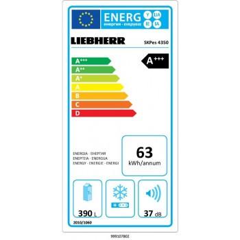 Liebherr SKPes 4350 - Frigorifero MonoPorta, 390 Litri, Classe A+++, Acciaio SmartSteel
