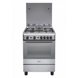 Hotpoint Ariston H6GG1F (X) IT - Cucina da Libero Posizionamento, 4 Fuochi a Gas, 60 cm, A