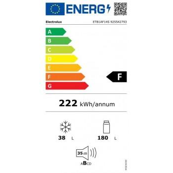 Electrolux ETB1AF14S - Frigorifero Da Incasso, Doppiaporta, LowFrost, Classe F ( A++)