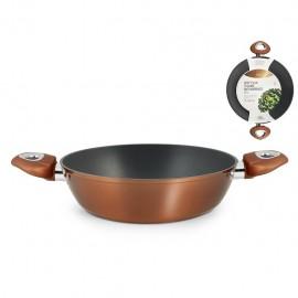 H&H Chef Plus - Tegame Antiaderente, Manici Antiscivolo, 24 cm, Induzione