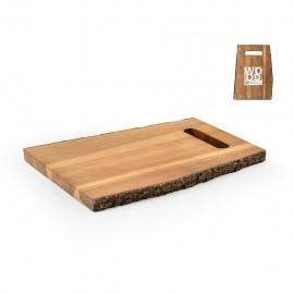 H&H Wood- Tagliere Legno Corteccia, Rettangolare, 30x21x2 cm