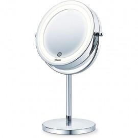 Beurer BS 55 - Specchio Cosmetico Illuminato con Sensore Tattile, Ingrandimento 7X