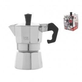 Home Caldo Caffè - Caffettiera Moka, Alluminio, 1 Tazza