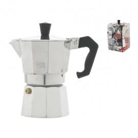 Home Caldo Caffè - Caffettiera Moka, Alluminio, 3 Tazze