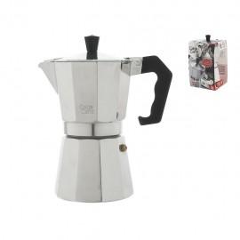 Home Caldo Caffè - Caffettiera Moka, Alluminio,  6 Tazze