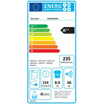 Electrolux EW8HL82W3 - Asciugatrice PerfectCare 800 a Pompa di Calore, SmartSense, 8 kg, A++