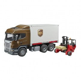 Bruder 03581 - Camion Scania Serie R UPS, con Muletto