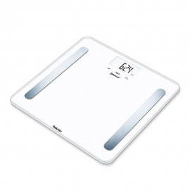 Beurer BF 600 Pure White - Bilancia Pesapersone Diagnostica Bluetooth, Portata 180 kg, Riconosciment