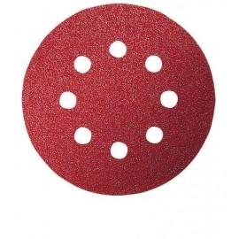 Bosch 5 Fogli abrasivi per levigatrice rotoorbitale RedWood Top, Ø 125 mm, G40, applicazione a strap