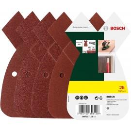 Bosch 2607017113 B&D Mouse 25 Fogli Abrasivi Grana Mista