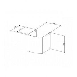 Kaimano 1023401 - Set 6 Coltelli Tavola, Manico Bianco