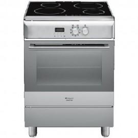 Hotpoint Ariston H6IMAAC (X) - Cucina con Forno Elettrico, Piano Cottura ad Induzione, 60 cm, A