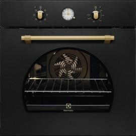 Electrolux FR65G - Forno da Incasso Rustico, AquaClean, Pizza, Nero Ghisa, 60 cm, A