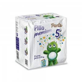 Pillo Premium - Pants Junior, Taglia 5 (12-18 Kg), 20 Pants