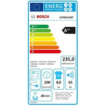 Bosch WTR85V08IT - Asciugatrice a Pompa di Calore, 8 Kg, A++