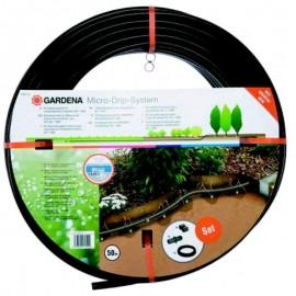 Gardena Tubo gocciolante interrato da 13,7mm, Gocciolatori + rotolo 50mt + attrezzo base 1000 - Mode