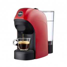 Lavazza Tiny - Macchina Caffè Espresso a Capsule, Stop&Go, 1450 W, 0,75 Lt., Rosso