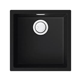 Elleci LKZ10286 - Lavello zen 102, 45,6X45,6, 1V, black