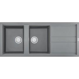 Elleci LKB50097 - Lavello best 500, 116X51, 2VG, light grey