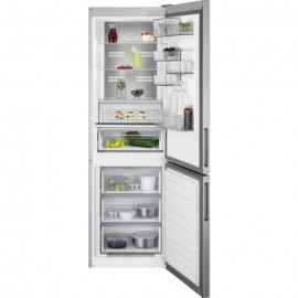 AEG RCB732D5MX - Frigorifero con congelatore, Libera installazione, Grigio, Acciaio inossidabile, 331 Litri, Classe D (A+++)