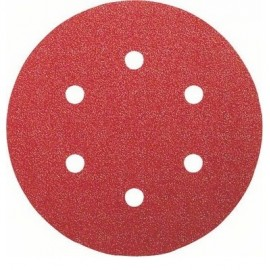Bosch 6 Fogli abrasivi per levigatrice rotoorbitale RedWood Top, Ø 150 mm, 2x G60/ 120/ 240, applica