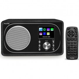 Pure Evoke F3 DAB/DAB+ Radio (FM, WLAN, Internet radio, Bluetooth, telecomando incluso) Nero