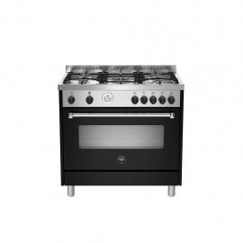 La Germania AMN965GNET - Cucina con Forno a Gas, Nero, 90x60 cm