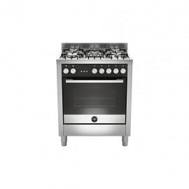 La Germania FTR765EXT - Cucina con Forno Elettrico, Inox, 70x60 cm