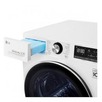 Lg RC90V9AV2W - Asciugatrice Pompa di Calore, 9 Kg, Dual Inverter, Wi-Fi, A.I., EcoHybrid, A+++ -10%