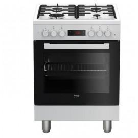 Beko FSE62110DWF - Cucina da Libero Posizionamento, 4 Fuochi a Gas, 66 Litri, A