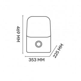 Argo Alice 17 - Deumidificatore, 17 Litri, Tanica 3 Lt, 320 W, R290