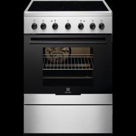 Electrolux EKC61360OX - Cucina Elettrica con Piano in Vetroceramica, Inox, 54 litri, 60 cm, A