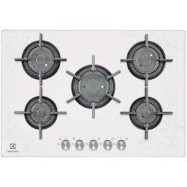 Electrolux PVF750UOB - Piano Cottura a Gas VerticalFlame, Cristallo Bianco, Profilo 8 mm, 75 cm