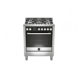 La Germania FTR765GXT - Cucina con Forno a Gas, Inox, 70x60 cm