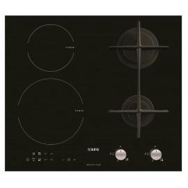 Aeg HD634170NB - Piano Cottura ad Induzione e Gas, 4 Fuochi, 60 cm