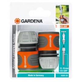 """Gardena Set raccordi rapidi per tubi da 13 mm (1/2"""") e 15 mm (5/8"""") - Modello 18281-20"""