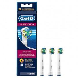 Oral-B Floss Action - Testine di Ricambio Spazzolino, 3 Pezzi