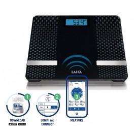 Laica PS7002 - Bilancia Pesapersone Digitale Smart, Wi-Fi Connect, Portata 156 kg
