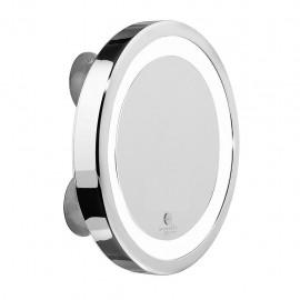 Macom Sensation 211 - Specchio Cosmetico con Led a Ventose, Ingrandimento 5X