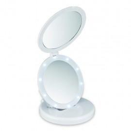 Macom Sensation 212 Eclipse - Specchio Cosmetico Doppio con Led, Ingradimento 5X